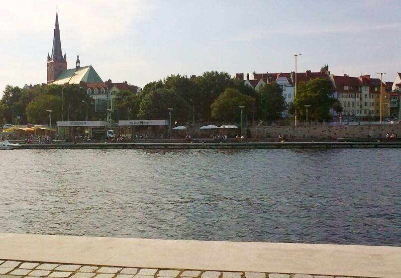 Bulwar nad Odrą - Szczecin lato