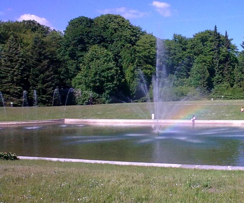 Fontanna w Szczecinie - lato w mieście