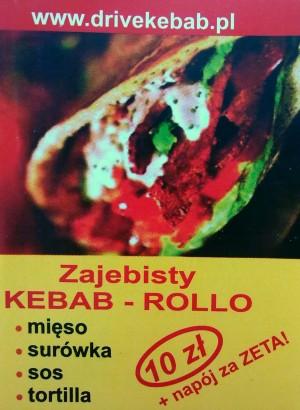 Zajebisty kebab rollo - ulotka