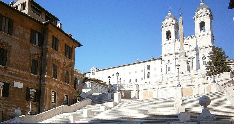 Zwiedzanie Rzymu - Schody Hiszpańskie